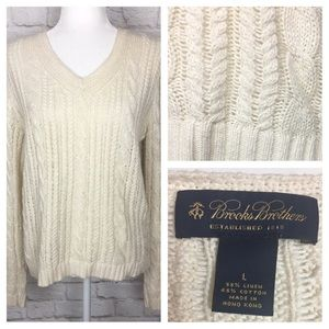 Brooks Brothers   Linen Blend Loose Knit Sweater